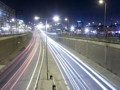 leeds rush-hour (tricky (rick harrison)) Tags: longexposure urban cars bulb night geotagged lights traffic headlights slowshutter streaks geolat53800892 geolon1539524