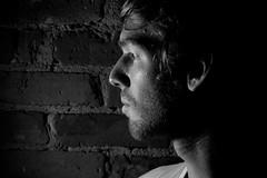 Colin 1 (.brian) Tags: colin handyman man portrait face blackandwhite person brick