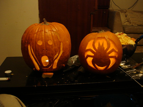 Pumpkins (again with the spider theme)