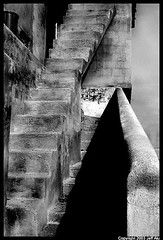stairs (Jeff T. Alu) Tags: popotla baja california stairs black white phototoshop digital surreal moody lonely dark outdoors bleak blackandwhite deserted illusion zen medetation medetate power impact graphic doom bright earthy dirt gritty intense visionary heat passion 4x4 remote desolate dreamy nightmare euphoric