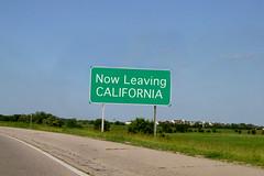 Now Leaving CA (jillmotts) Tags: green photoshop edited highwaysign freewaysign jillmotts