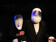 Servant and master (happeningfish) Tags: self actors mask theatre stage masks acting actor johanna davide marlonbrando lumixfx7 hyhentm ephemere metamorfoosi