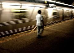 4th Ave, F train (.brian) Tags: ftrain 4thave subway train blur person night urban nyc brooklyn