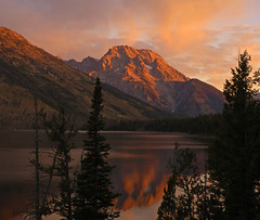 Mt Moran from Jenny Lake Overlook (Bonnie Bowne) Tags: mountain mountains nature topv111 sunrise wow landscape yellowstone wyoming grandtetons tetons naturelover nikonstunninggallery abigfave