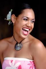 Paradise Cove Girl (disneymike) Tags: travel vacation portrait girl smile hawaii nikon oahu luau worker d100 nikkor paradisecove 70200mmf28gvr kapolei nikonstunninggallery