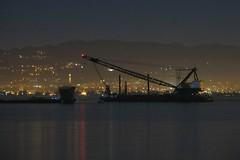 The Hills (aqui-ali) Tags: sanfrancisco california ca usa water night oakland bay treasureisland barge aquiali:a=1