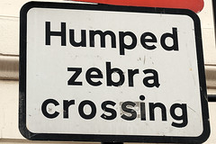 Humped Zebra Crossing (allanimal) Tags: england london sign funny crossing unitedkingdom zebra humped allanimal