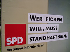 SPD - Wer ficken will, muß standhaft sein