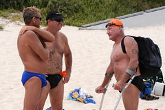 Comparing notes (North Cottesloe Open Water Swim) (sengsta) Tags: northcottesloe openwater beach swimmer