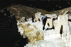 The Big Wall is steep at times (johan__) Tags: china 2001 wall south kina muralha thewall johan thegreatwall simatai thegreatwallofchina lsochres kinesiskamuren svenskafotografer jinshangling