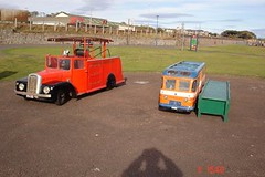 Miniature bus and fire engine - arbroath (exe888) Tags: bus golden scotland miniature angus lion fireengine midget arbroath brigade kerrs johnstones westlinks strathtay kerrsminiaturerailway