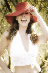 Deena - Red Hat (Don Giannatti (aka wizwow)) Tags: deena model hat smile