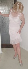 Adjusting slip hem (juli9311) Tags: lace full crossdresser petticoat slips