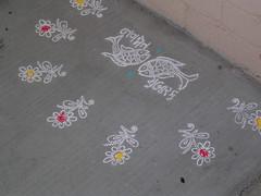 chalk designs (shevoo) Tags: chalk navjote rangoli