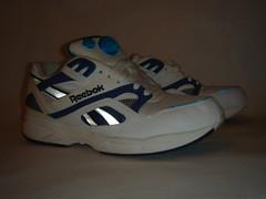 Reebok - Pump Graphite (rustysnails.com) Tags: blue white sex fetish sneakers trainers pump footwear reflective kicks graphite laces reebok