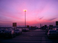 Purely the sensation of lovely pink and purple (Marchnwe) Tags: pink sky cars car tag3 taggedout tag2 tag1