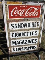 Centerpoint Station (Rusty Blazenhoff) Tags: signs station sign vintage texas newspapers sanmarcos cocacola magazines cigarettes 35 sandwiches centerpoint ih35