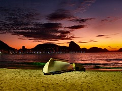 Boat on Beach at Sunrise - Rio de Janerio (Sam's Exotic Travels) Tags: brazil beach rio brasil sunrise de was boat sam pic sams pik travelphotos janerio deleteit saveit saveit2 deleteit2 saveit3 deleteit3 saveit4 saveit6 saveit8 saveit9 saveit10 savedbythedmusunscapegroup capacabana i savet5 saveit7missingtag samsays wow1000view tainotribe samsexotictravelphotos exotictravelphotos samsayscom pikd