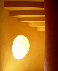 Stairs in Sheraton Miramar Resort El Gouna, Egypt (mnadi) Tags: vacation orange abstract window yellow stairs hotel warm artistic perspective creative egypt warmth gouna illusion sheraton escher hurghada  nubian