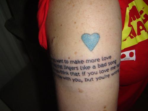 New Text Tattoo