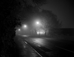 Cold Misty Night (Scott Foy) Tags: road trees bw mist canon wow dark scotland path a620 renfrewshire howwood scottfoy