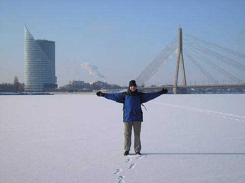 Frozen Dauguva in Riga