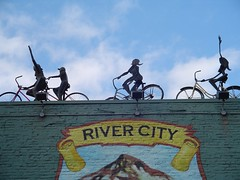 roof of River City Bike Shop