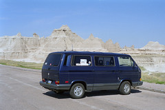 Badlands Vanagon (Ian E. Abbott) Tags: southdakota nationalpark roadtrip badlands nationalparkservice badlandsnationalpark vanagon vwvanagon volkswagenvanagon