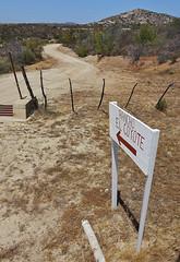 Shortcut to Highway 3 through Rancho Coyote (thedays.ofhighadventure) Tags: california coyote bike bicycle america mexico cycling highway san desert adventure pedro biking latin baja touring rancho martir turnoff