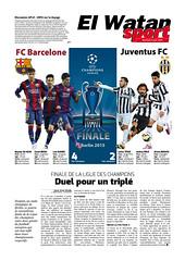 Duel pour Un triplé (MohandYahiaoui) Tags: juin 5 fc infographie league champions algérie juventus barcelone 2015 elwatanweekend