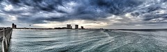 Altered Reality (perknstein) Tags: ocean panorama beach clouds pier surf thunderstorm pensacola photostream