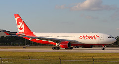Air Berlin A330-200 D-ALPG (birrlad) Tags: sunset usa sunlight berlin airplane airport florida miami taxi aircraft aviation air airplanes international airline mia airbus states airways airlines departure takeoff runway a330 airliner departing taxiway a330200 a330223 a332 dalpg