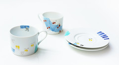 """Cup and Saucer """"The 47 Vegetables"""" (mayakonakamura) Tags: cup vegetables hotel tokyo teacup saucer nakamura shiodome aih tableware mayako nabeshima parkhoteltokyo ceramicpainting artistroom"""