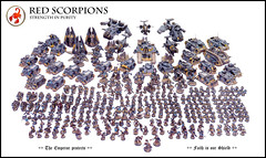 Red Scorpions Full Force (Relaxdesign Minis) Tags: bike army aircraft 40k company rhino stalker librarian warhammer hunter hq apothecary terminator predator tanks spartan chaplain vindicator gamesworkshop dreadnought centurions whirlwind redscorpion spacemarine ironclad techmarine tacticalsquad landraider servitor stormeagle forgeworld redscorpions devastatorsquad assaultsquad scoutsquad droppod stormtalon sternguard stormraven thunderfirecannon contemptor vanguardveteran mastersofthechapter sevrinloth deredeo commanderculln fellblade conclaveoftheancients