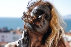 Humanise (alpgiraykelem) Tags: woman color girl face turkey dark hair nude pain hurt mask path makeup human balance izmir ache undress alpgiray kelem humanise