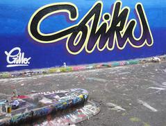 Stika (cocabeenslinky) Tags: street city uk england urban streetart london art lines june writing lumix graffiti paint artist photos south united capital letters kingdom tunnel can spray east panasonic waterloo graff leake se1 artiste 2015 stika dmcg6 cocabeenslinky