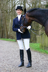 Nicola 14 (The Booted Cat) Tags: horse sexy girl boots riding jacket blonde jodhpur ridingboots equestrienne