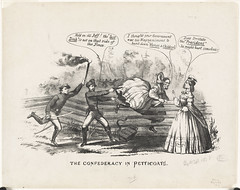 The Confederacy in petticoats (Boston Public Library) Tags: crossdressing soldiers prints presidents politicalcartoons chasing jeffersondavis lithographs varinadavis unitedstatescivilwar presidentsspouses