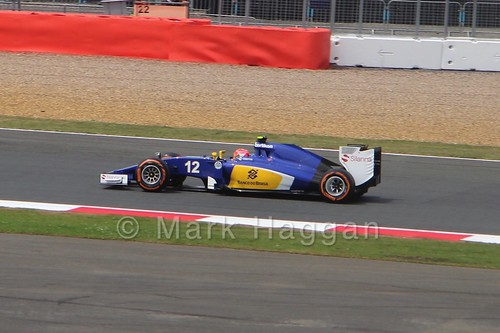Felipe Nasr in the 2015 British Grand Prix at Silverstone
