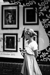 IMGP6395-2 (Julie F Whelan) Tags: blackandwhite bw window girl shopping children gi