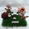 Bichinhos Floresta (mfuxiqueira) Tags: bambi feltro coelho floresta caracol bichinhos coelhinho porcoespinho