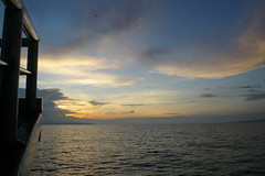 Sailing in to the night, Flores sea, Indonesia (pbarlow1286) Tags: ocean sunset sea sun slr boat sailing yacht dusk sail