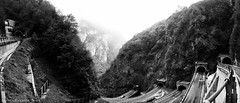 Is it a deja vu, is it a time lapse, nope, it is Passo San Boldo (mono version) (lunaryuna) Tags: italy panorama mountains tunnels lunaryuna dolomites hairpins veneto stitchedpanorama passosanboldo historicroutes sanboldopass
