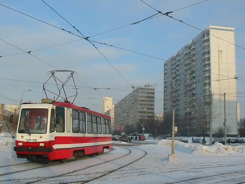 Moscow tram LM-99AE 3025