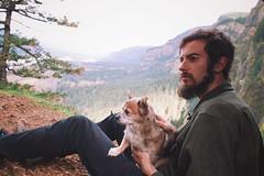 Sage and I (Jake Arciniega) Tags: portrait chihuahua oregon portland northwest 28mm pomeranian pnw columbiagorge horsetailfalls pomchi canon6d vsco rockofagesarch vscocam oregonexplored