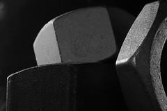 bulloni (Roberto Gramignoli) Tags: bulloni acciaio ferro metallo bianconero metal bw steel bolts iron