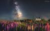 Dream to the Church of Good Shepherd (我的臉書粉絲 : LIU Photography 傳傳) Tags: hobbiton matamata new zealand newzealand landscape night nightscape star church stars milky way lake tekapo good shepherd