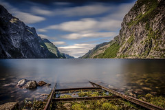lost track (Ferdinand Bart Alst - Pixel Your Soul Photography) Tags: track ramp lost le longexposure nature mountains fjord clouds sky norway norge leefilter bigstopper sirui nikon