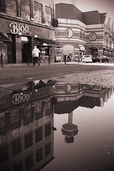 Time for Reflection... (VisualTheatrics) Tags: reflections reflection city citylife project hospital historical history histories home photography street sepia blackandwhite buildings build building ubran urban pub urbex liverpool landmarks puddle architecture art architectural arts artist radiocity