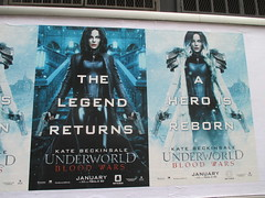 Underworld Blood Wars - Kate Beckinsale 2017 Poster 9010 (Brechtbug) Tags: underworld blood wars 2017 january movie poster standee film kate beckinsale 12182016 vampire hunter hunters vampires werewolf werewolves monster monsters gun guns side walk billboard billboards sidewalk annnnd shes back eurotrash heroes euro trash villains hero villain tough guy lady woman fashion future futurish alternate reality ish forever night vamp